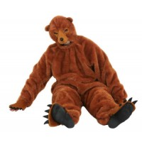 Costume a tuta da orso bruno con maschera