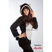 Costume a pantaloncino da panda