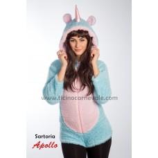 Costume a pantaloncino da unicorno azzurro