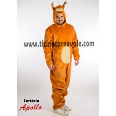 Costume a tuta da scoiattolo