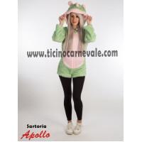 Costume a pantaloncino da unicorno verde