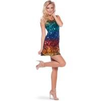 Vestito di paillettes arcobaleno