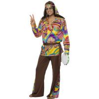 Costume da hippie da uomo psichedelico