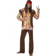 Costume da hippie anni 60 peace