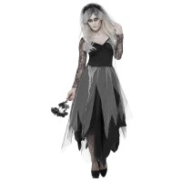 Costume da sposa cadavere nera