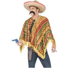 Poncho messicano con baffi