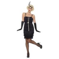 Costume charleston anni 20 con frange nero