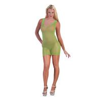 Vestito a rete verde neon