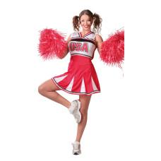 Costume da cheerleader rosso