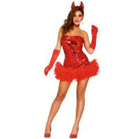 Costume da diavolessa con tutù