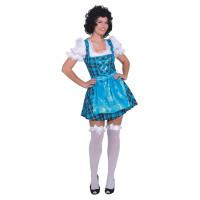 Costume da dirndl bavarese a quadretti blu