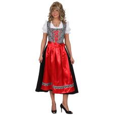 Costume da dirndl bavarese con gonna nera lunga