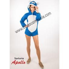 Costume a pantaloncino da orsetto abbracciatutti blu