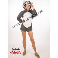 Costume a pantaloncino da orsetto abbracciatutti grigio