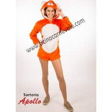 Costume a pantaloncino da orsetto abbracciatutti arancione