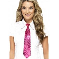 Cravatta con paillettes pink