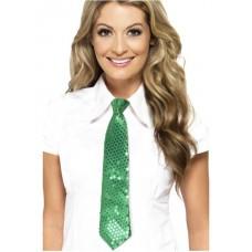 Cravatta con paillettes verde