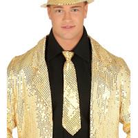 Cravatta con paillettes oro