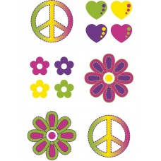 Set di tatuaggi hippie