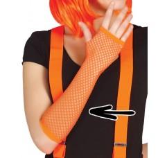 Guanti a rete arancioni neon