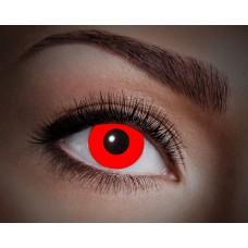 """Paio di lenti a contatto UV """"Rosso totale"""""""