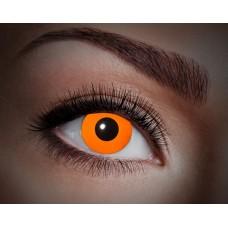 """Paio di lenti a contatto UV """"Arancione totale"""""""