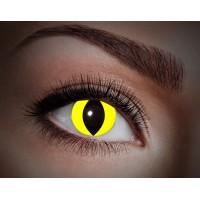 """Paio di lenti a contatto UV """"Gatto giallo"""""""