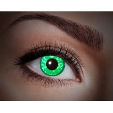 """Paio di lenti a contatto UV """"Diamante verde"""""""