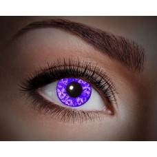 """Paio di lenti a contatto UV """"Diamante viola"""""""