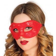 Maschera con pizzo rosso