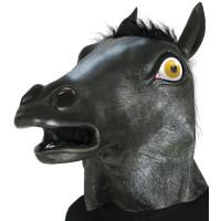Maschera da cavallo nero