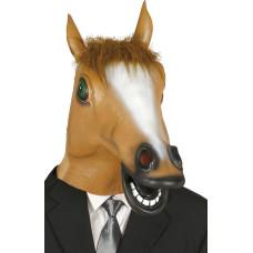Maschera da cavallo marrone