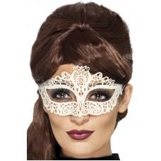 Maschera di pizzo bianca