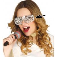 Occhiali da pop star con strass