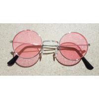 Occhiali da hippie rosa