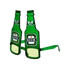 Occhiali a bottiglia di birra