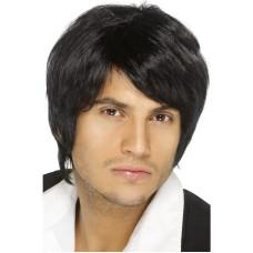 Parrucca anni 70 con frangia nera