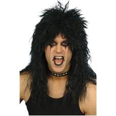 Parrucca da rocker nera