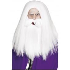Parrucca da mago con barba