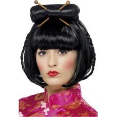 Parrucca asiatica con bacchette