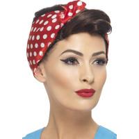 Parrucca anni 40 corta con foulard