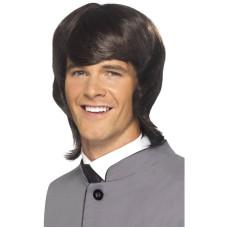 Parrucca anni 60 lunga con frangia