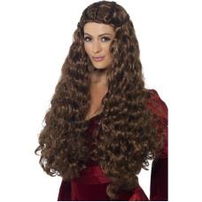 Parrucca medioevale castana