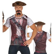 Maglietta con stampa da pirata uomo