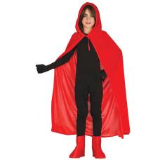 Mantello con cappuccio rosso