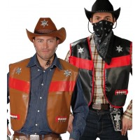 Gilet da cowboy nero