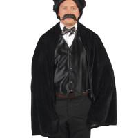 Mantello lucido nero con colletto