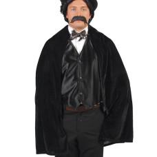 Mantello lucido nero con laccio