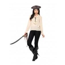 Camicia da pirata avorio
