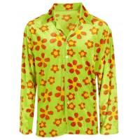 Camicia da hippie fiorata verde